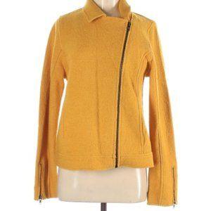 Tahari Women's Yellow Motorcycle Jacket